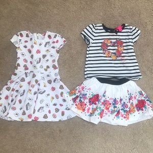 Two Betsy Johnson 18/24 mos outfits